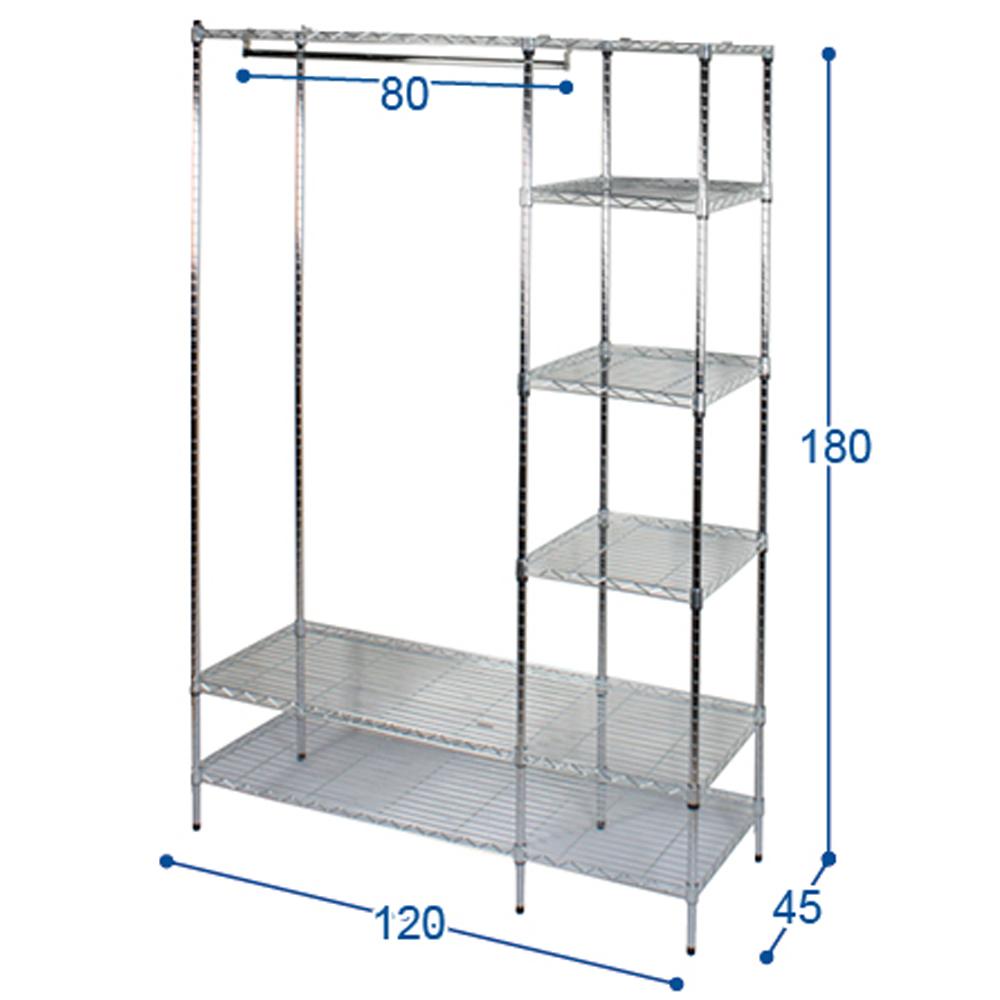 Popular Loading zoom metal frame wardrobe