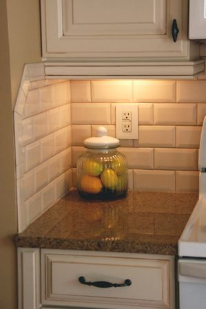 Popular LOVE this beveled subway tile, Hampton Sand by Adex. White Subway Tile kitchen tile backsplash