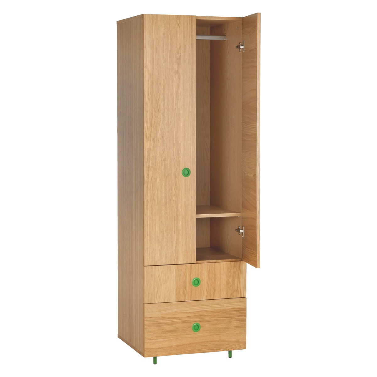 Popular ... POD Kidsu0027 oak double wardrobe with drawers double wardrobe with drawers