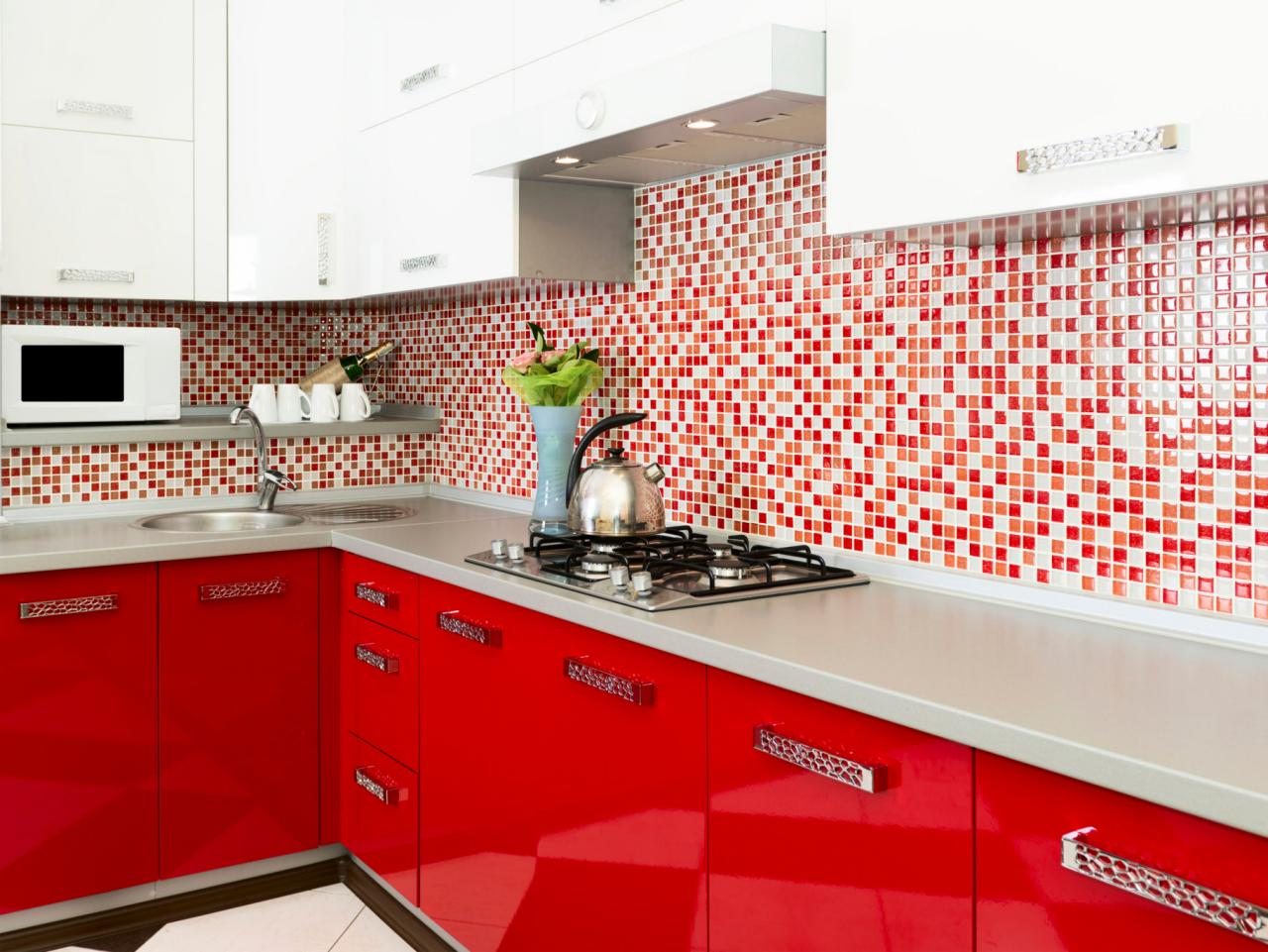 Popular Red Kitchens red and white kitchen designs