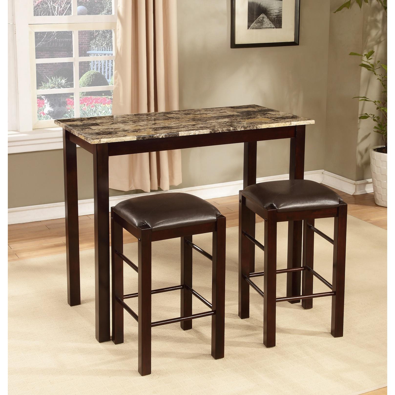 Popular Roundhill Furniture Brando 3 Piece Counter Height Dining Set counter height dining set