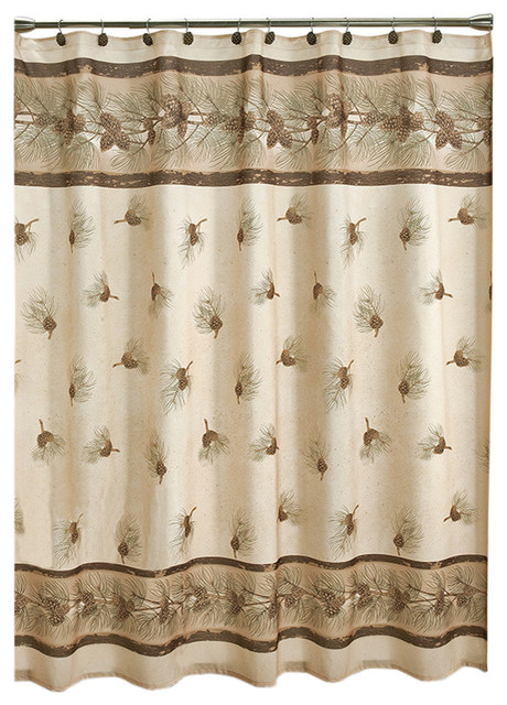 Popular Saturday Knight Pinehaven Shower Curtain rustic-shower-curtains rustic shower curtains