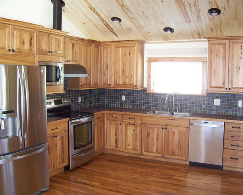 Popular SaveEmail rustic hickory kitchen cabinets
