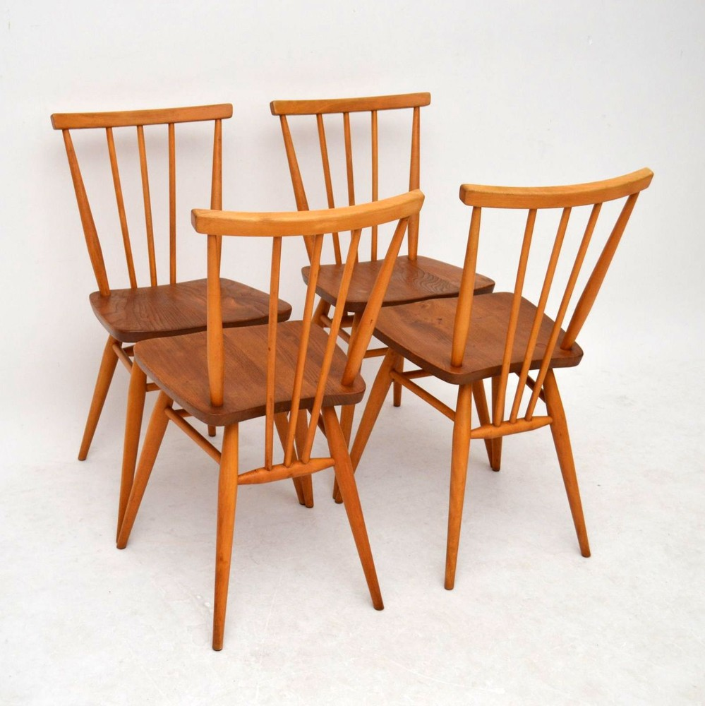 Popular ... set-4-retro-solid-elm-dining-chairs-ercol- ... vintage ercol dining chairs