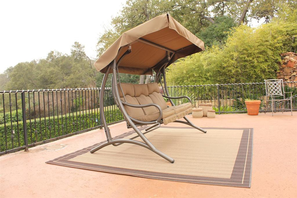 Popular STC Patio Glider with Canopy - Santa Fe JH319C patio glider with canopy