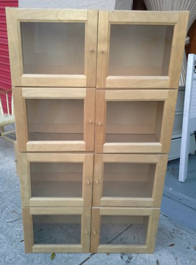 Popular ... Two Shelf Unit with Glass Doors (Stackable) shelving units with glass doors