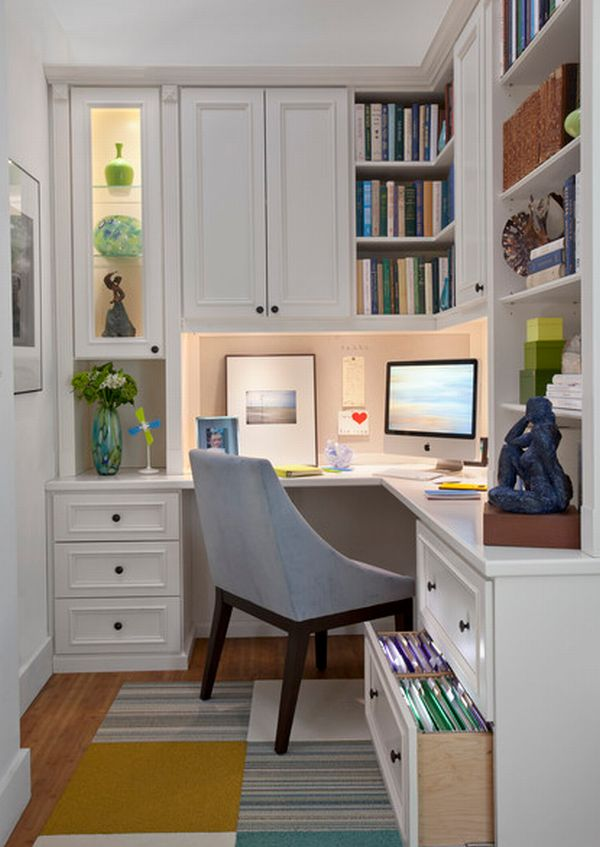 Popular View in gallery Custom crafted wooden home office ... small home office design