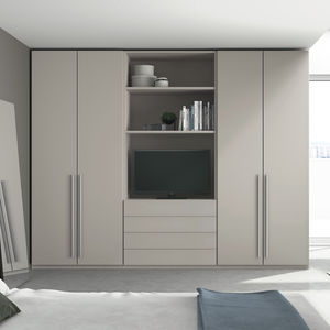 Popular wall-mounted wardrobe / contemporary / MDF / with swing doors wall wardrobe design