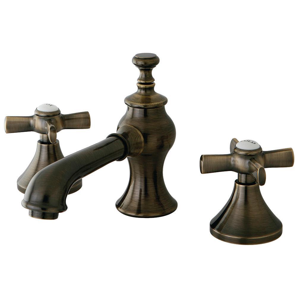 Popular Widespread 2-Handle Mid-Arc Bathroom Faucet in Antique antique brass bathroom faucet