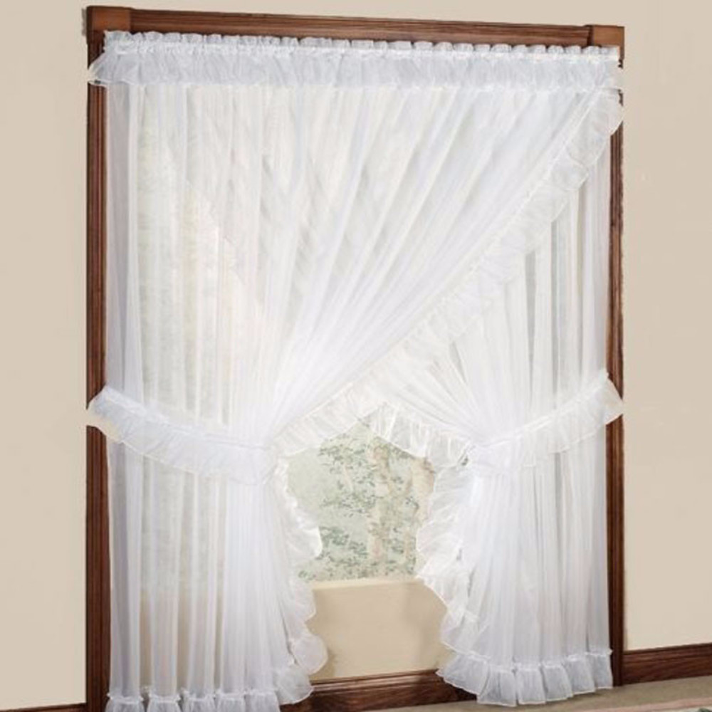 Photos of ... Sheer-Priscilla-Panel-Pairs-With-Attached-Valance-Zoom · Ellis Curtain priscilla curtains with attached valance
