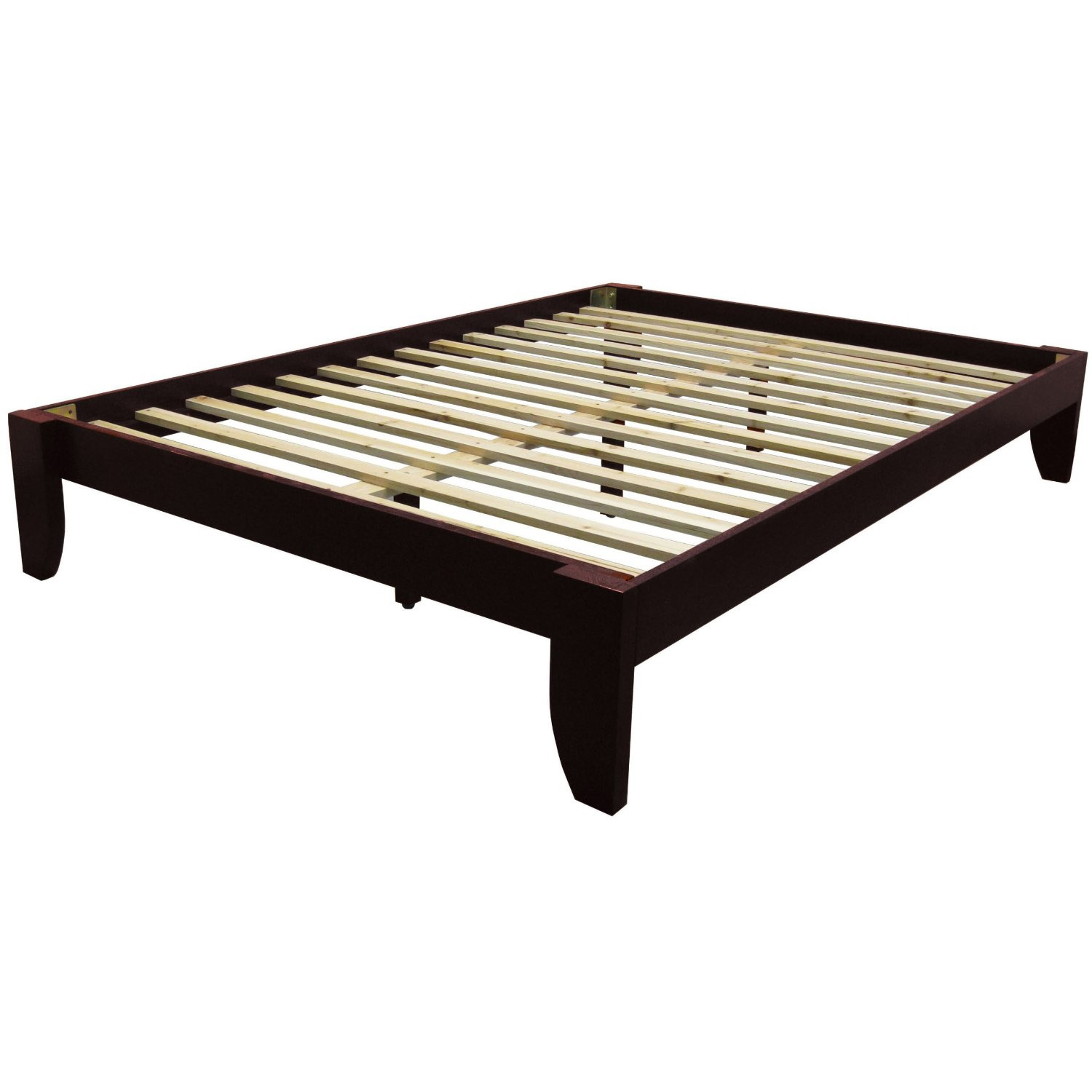Beautiful Queen size Platform Bed Frame in Mahogany Wood Finish 1 queen size platform bed frame