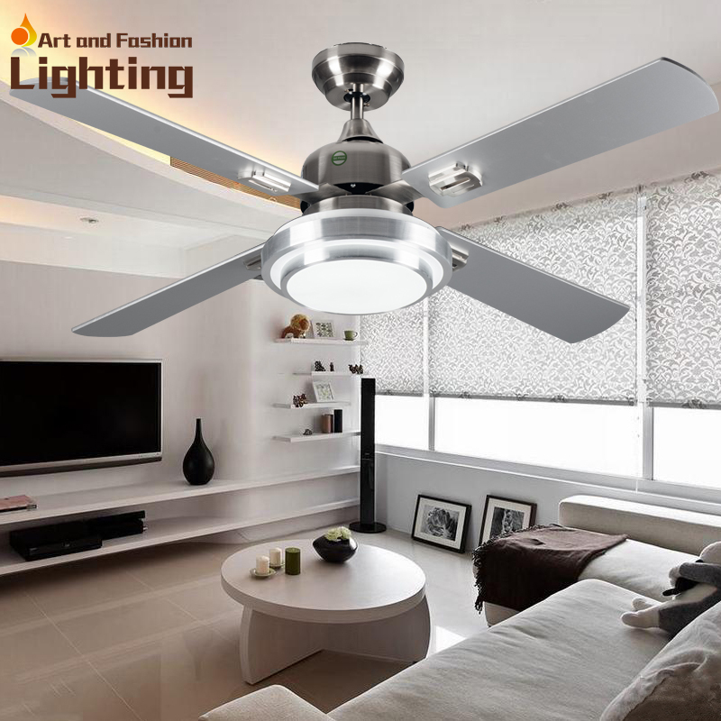 Contemporary Super quiet Ceiling fan lights large 52 inches modern ceiling fan lamp quiet ceiling fans for bedroom