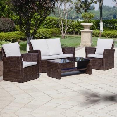 Contemporary Rattan Garden Sofa Sets rattan garden sofa