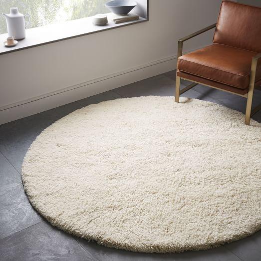 Trending Darby Wool Shag Rug - Round | west elm round shag rug