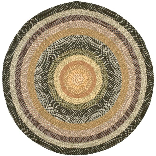 Amazing Safavieh Hand-woven Indoor/Outdoor Reversible Multicolor Braided Rug (6u0027  Round) round woven rug