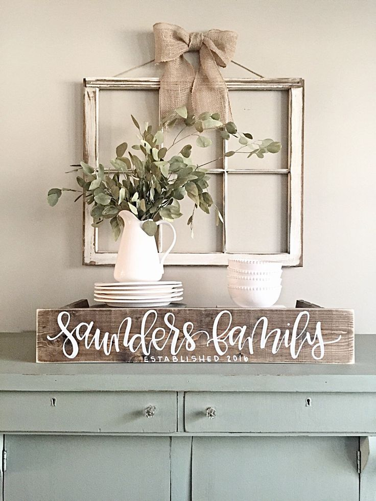 Cute Last Name Sign | Rustic Home Decor | Wedding | Established Date | rustic window frame wall decor