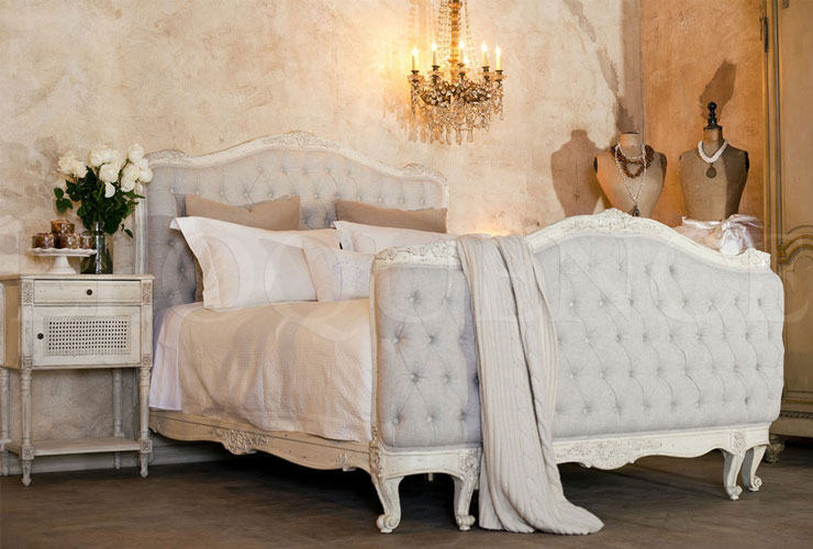 Cozy french scabby chic bed shabby chic bedroom furniture