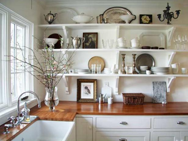 Cozy Design Ideas for Kitchen Shelving and Racks | DIY shelving ideas for kitchen