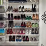Create a decent space with the shoe racks for closets