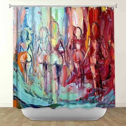 Elegant Buy Shower Curtain Artistic Designer from DiaNoche Designs by Artist Aja shower curtains funky unique cool
