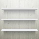 Simple White wood background shelves Stock Photography white wooden shelves