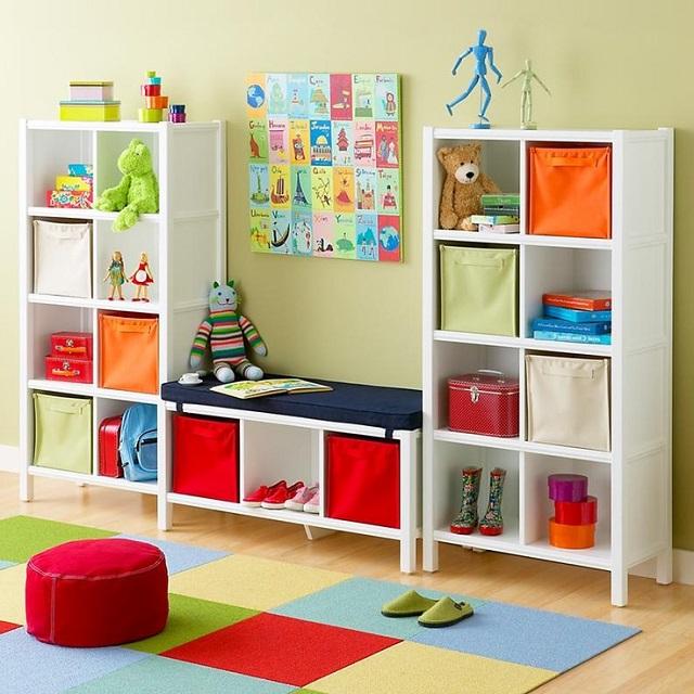 Cozy Small-Kids-Room-Storage-Ideas-3 small kids room storage ideas