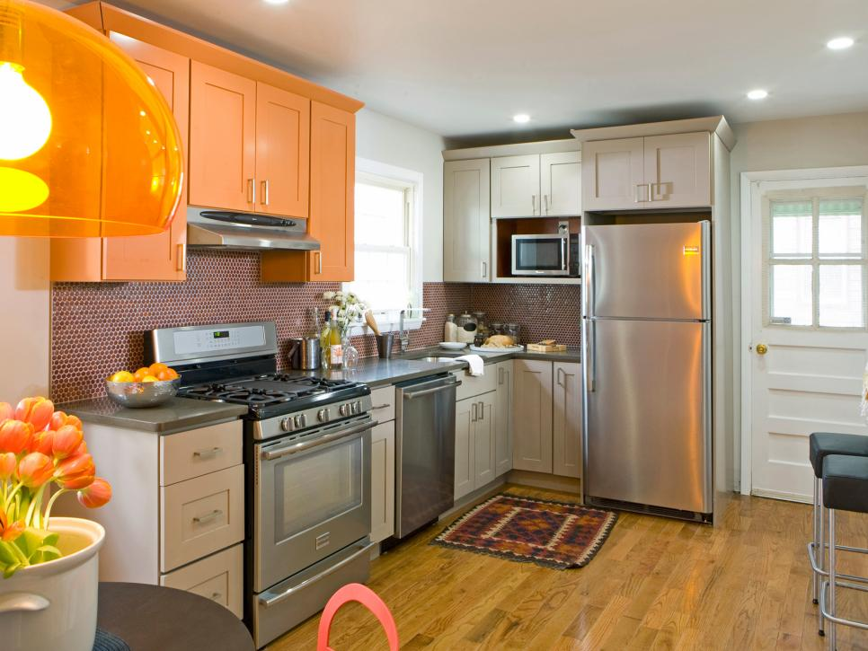 Contemporary 20 Small Kitchen Makeovers by HGTV Hosts   HGTV small kitchen remodel ideas