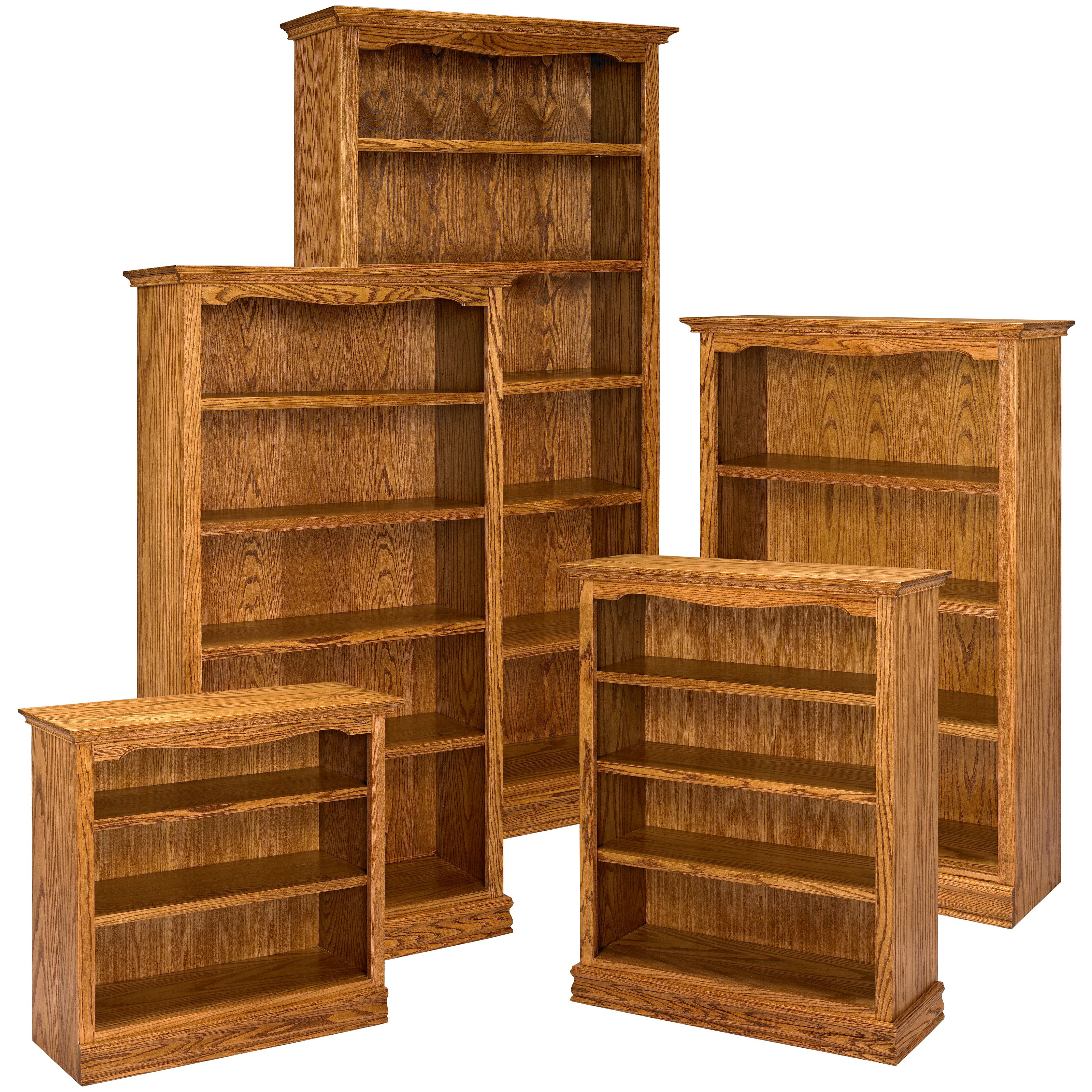 Pictures of Image 1 of 1 solid wood bookcases