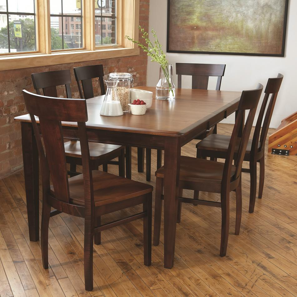 Stunning L.J. Gascho Furniture Solid Wood Dining Sets 7 Piece Dining Set - solid wood dining set