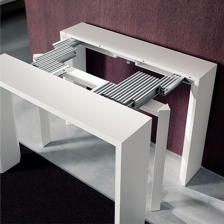 Elegant This hall table transforms into a long dining table! Goliath | Resource space saving extending dining table