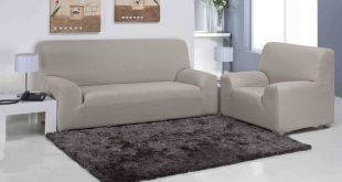 Luxury Beige stretch sofa slipcover