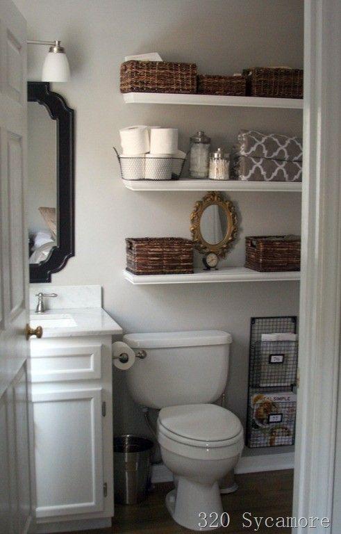 Stunning 21 Floating Shelves Decorating Ideas small bathroom decor ideas