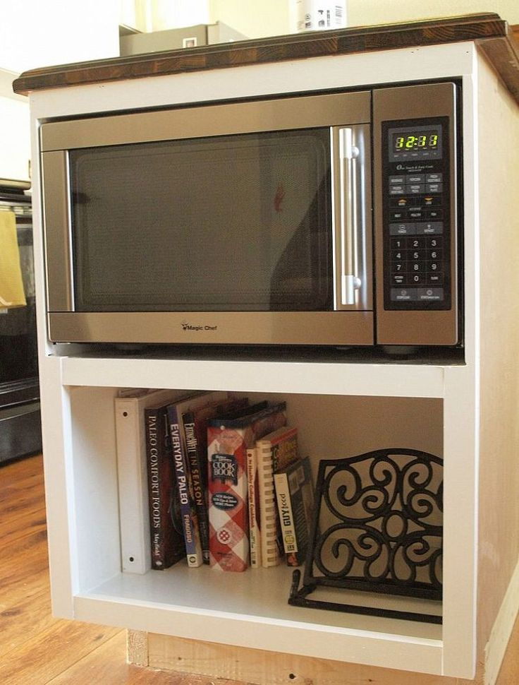 Stunning 25+ best ideas about Microwave Storage on Pinterest | Hidden microwave, countertop microwave shelf