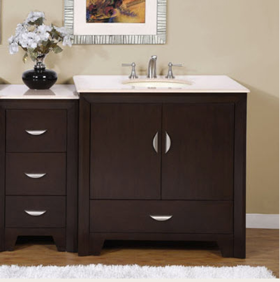 Stunning 54 Inch Modern Single Bathroom Vanity single sink bathroom vanity