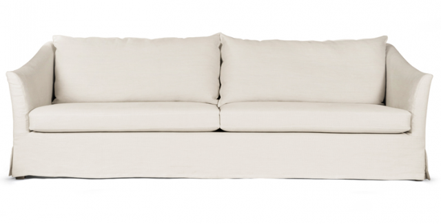 Stunning Above: The Washington 91-Inch Sofa is slipcovered in Belgian linen; $5,300  from linen slipcover sofa