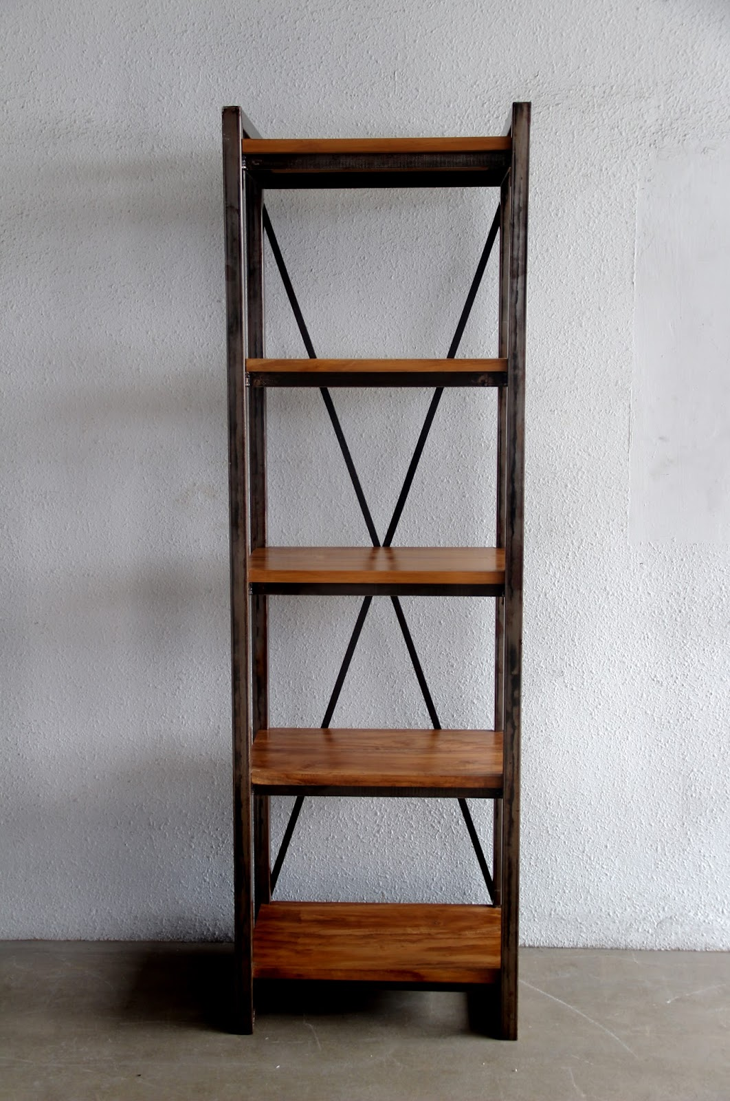 Stunning All Images metal and wood bookcase