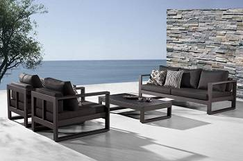 Stunning Amber Collection modern outdoor patio furniture