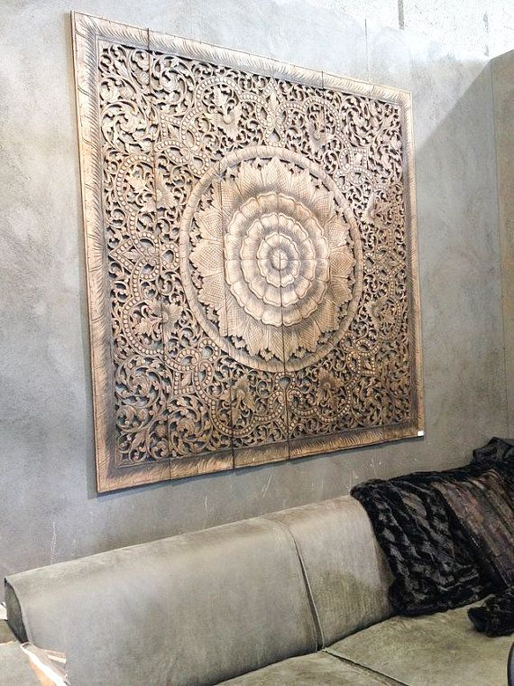 Stunning Balinese Wall decor, Carved Wood Wall Art Panel, Wall Hanging, Teak  Paneling, carved wood wall art panels