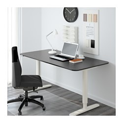 Stunning BEKANT Desk sit/stand - black-brown/white - IKEA ikea sit stand desk