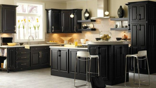 Stunning Black paint colors for kitchen cabinets with lighting paint color ideas for kitchen cabinets