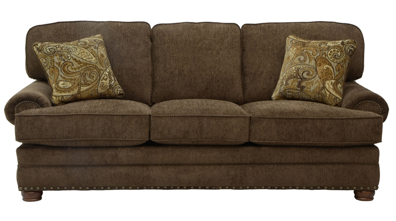 Stunning Braddock Sofa in Chenille Fabric by Jackson - 4238-03 chenille fabric sofa
