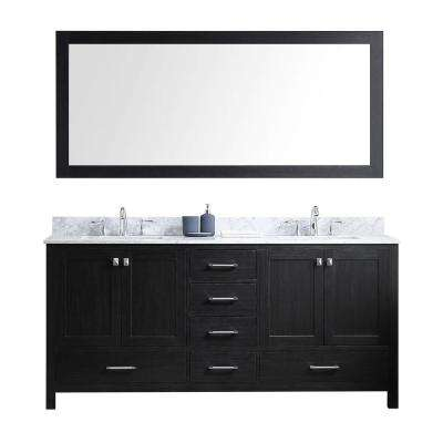 Stunning Caroline Avenue 72 in. W x 22 in. D x 34.21 in. double sink bathroom vanity
