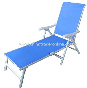 Stunning China Patio Furniture Steel Sling Folding Chaise Lounge / Sunbed folding patio lounge chairs