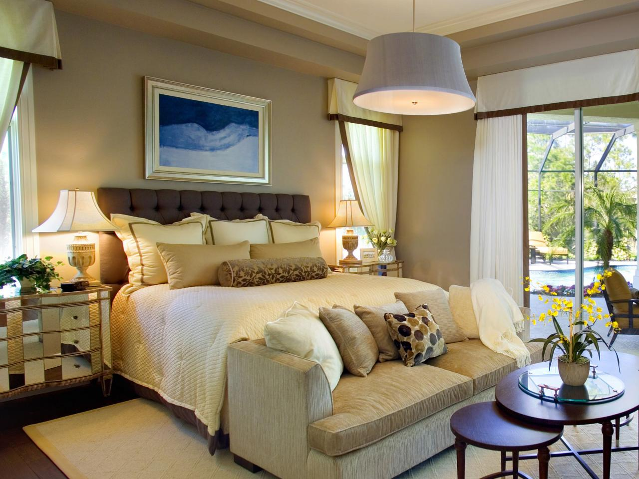 Stunning Contemporary Gray and Orange Bedroom master bedroom colour ideas