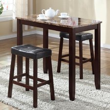 Stunning Daisy 3 Piece Counter Height Pub Table Set bar height pub table sets