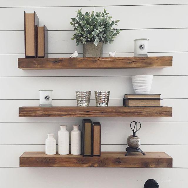 Stunning Floating shelves, wall decor wooden wall shelves