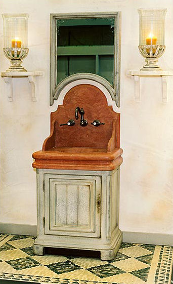 Stunning French Country Style Bath Vanity from Provence Et Fils - the Chenonceaux french country style bathroom vanities