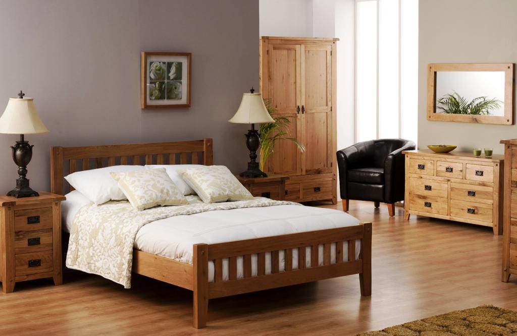 Stunning Image of: Solid Oak Bedroom Furniture honey oak bedroom furniture