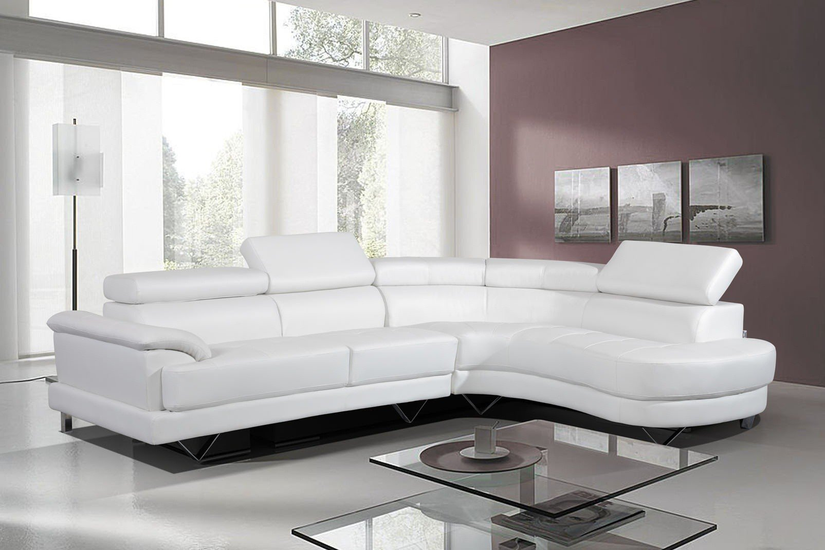 Stunning Leather Corner Sofa White ... white leather corner sofa
