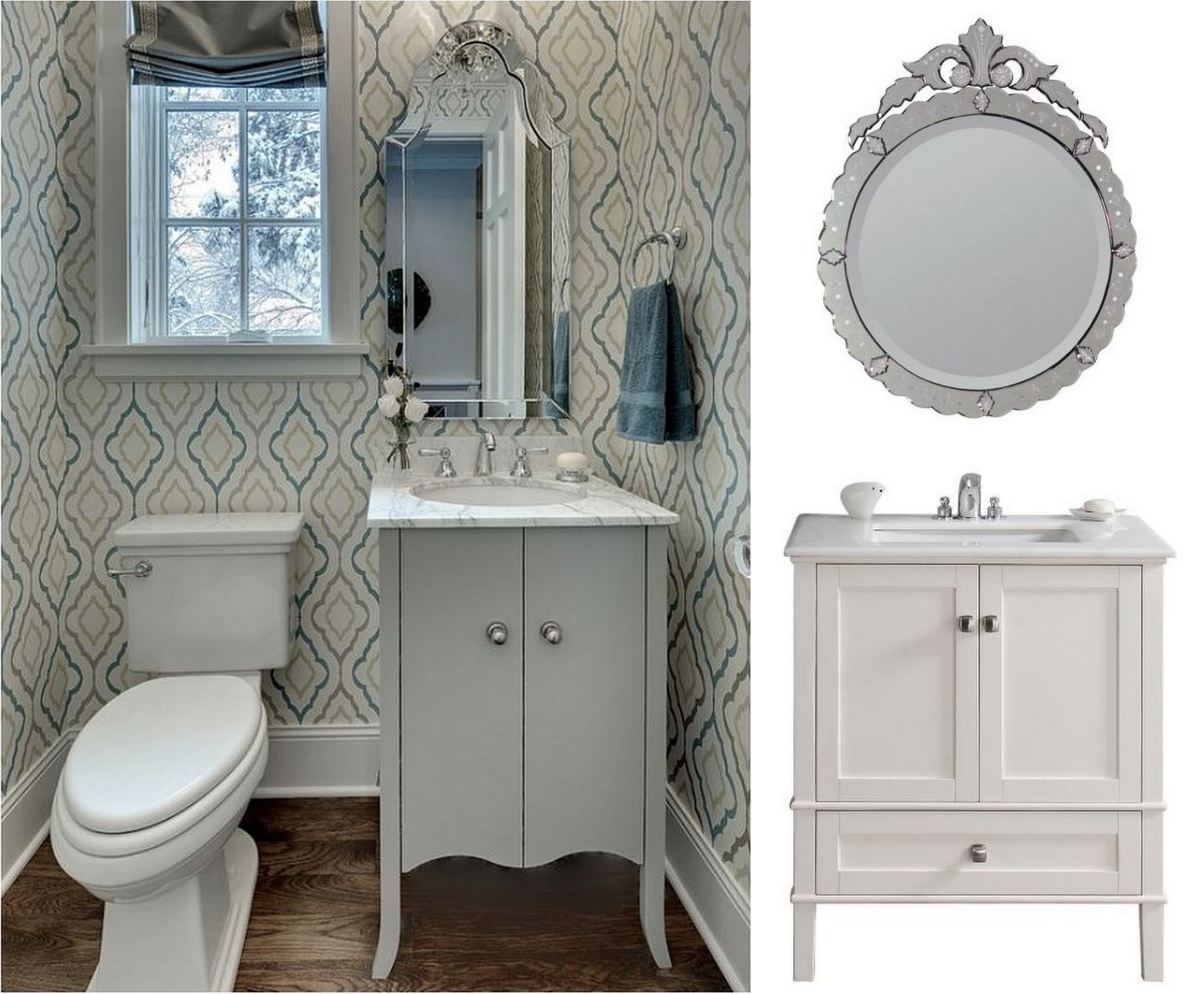 Stunning Modern Powder Room Aeccafe Archshowcase Furniture powder room vanities for small spaces
